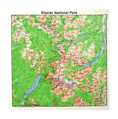 Crater Lake Topographic Map.Bandanas Grand Canyon Topo Map First Aid Knots Animal Tracks