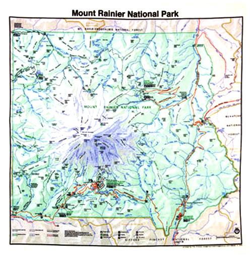 Denali National Park Topographic Map.Bandanas Grand Canyon Topo Map First Aid Knots Animal Tracks