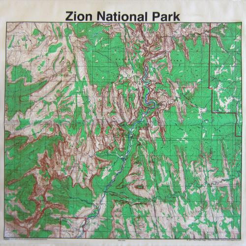 Bandana Topo Map Zion National Park