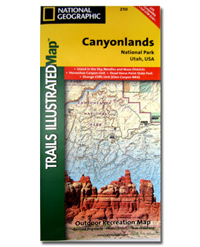 National Geographic Trails Illustrated Map Canyonlands National Park