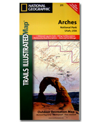 National Geographic Trails Illustrated Map Arches National Park