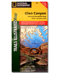 National Geographic Trails Illustrated Map Glen Canyon National Recreation Area