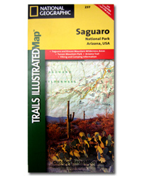 National Geographic Trails Illustrated Map Saguaro National Park