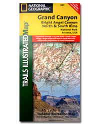 National Geographic Trails Illustrated Map Grand Canyon National Park
