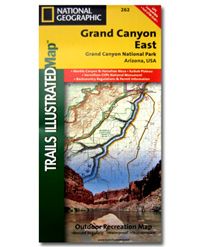 National Geographic Trails Illustrated Map Grand Canyon National Park East