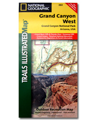 National Geographic Trails Illustrated Map Grand Canyon National Park West