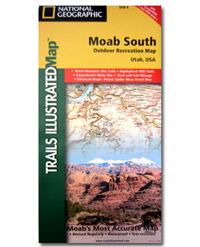 National Geographic Trails Illustrated Map Moab South