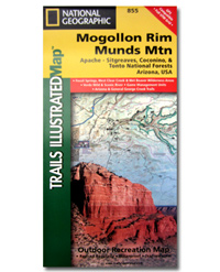 National Geographic Trails Illustrated Map Mogollon Rim and Munds Mountain
